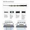 DQ1 44BPM Vacuum Brazed Steel Cutting Diamond Wire